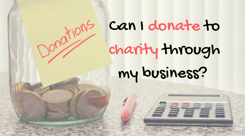 Can I donate to charity from my business?