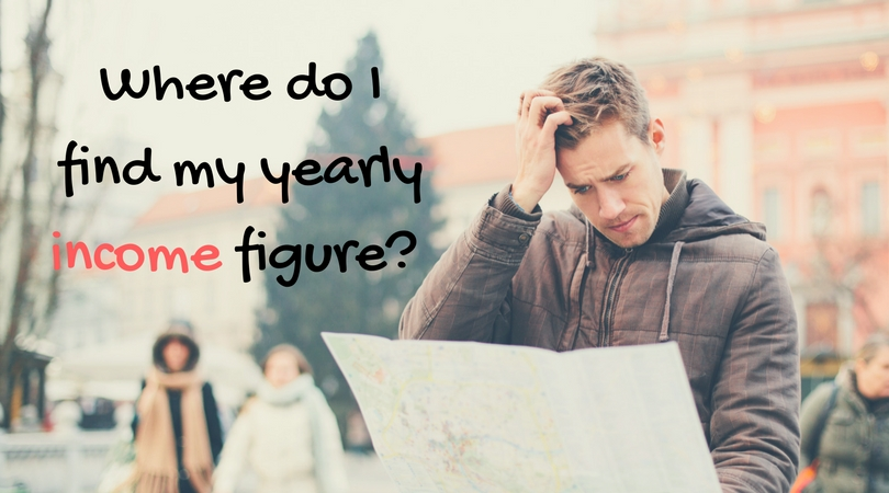 Where do I find my yearly income figure?